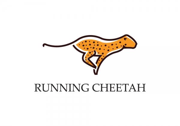 running cheetah premium logo design for sale logostack running cheetah